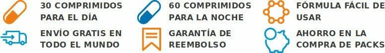 Garantía de devolución de dinero, entrega rápida y fórmula probada y aprobada en España, México y Colombia