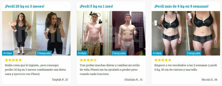Opinion y fotos antes / después de mostrar resultados de pérdida de peso